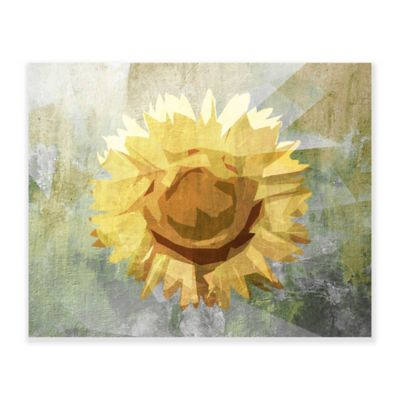 Concrete Sunflower 20 Inch X 16 Inch Wooden Wall Art