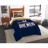MLB Milwaukee Brewers Grand Slam Twin Comforter Set