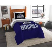 MLB Colorado Rockies Grand Slam Twin Comforter Set