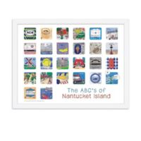 The ABCs of Nantucket 18-Inch x 24-Inch Poster Wall Art