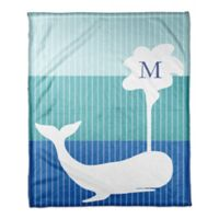 Designs Direct First Mate Small Whale Throw Blanket