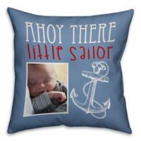 "Designs Direct First Mate Collection ""Ahoy There Little Sailor"" Children's Pillow in Blue"