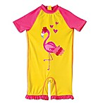 Wippette Size 9M 1-Piece Flamingo Surf Suit in Yellow