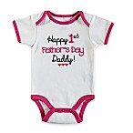 "babyGEAR™ Size 12M ""Happy 1st Father's Day"" Bodysuit in White"
