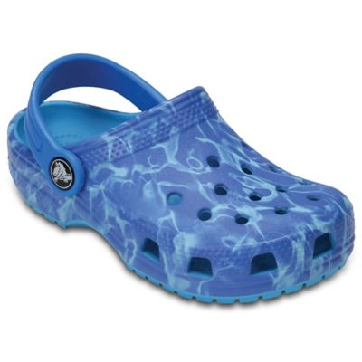 ef5d35ea6 Crocs™ Water Graphic Size 5 Kids  Clog in Blue