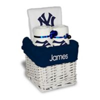 Designs by Chad and Jake MLB Personalized New York Yankees 4-Piece Baby Gift Basket
