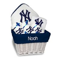 Designs by Chad and Jake MLB Personalized New York Yankees 6-Piece Baby Gift Basket