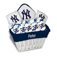 Designs by Chad and Jake MLB Personalized New York Yankees 8-Piece Baby Gift Basket
