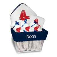 Designs by Chad and Jake MLB Personalized Boston Red Sox 6-Piece Baby Gift Basket