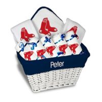 Designs by Chad and Jake MLB Personalized Boston Red Sox 8-Piece Baby Gift Basket