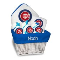 Designs by Chad and Jake MLB Personalized Chicago Cubs 6-Piece Baby Gift Basket
