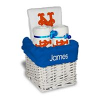 Designs by Chad and Jake MLB Personalized New York Mets 4-Piece Baby Gift Basket