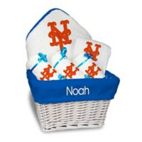 Designs by Chad and Jake MLB Personalized New York Mets 6-Piece Baby Gift Basket
