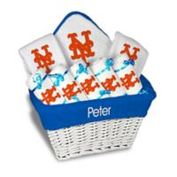 Designs by Chad and Jake MLB Personalized New York Mets 8-Piece Baby Gift Basket