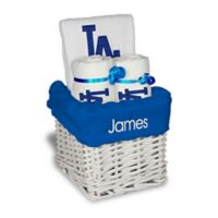 Designs by Chad and Jake MLB Personalized Los Angeles Dodgers 4-Piece Baby Gift Basket