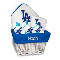 Designs by Chad and Jake MLB Personalized Los Angeles Dodgers 6-Piece Baby Gift Basket