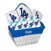 Designs by Chad and Jake MLB Personalized Los Angeles Dodgers 8-Piece Baby Gift Basket