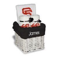 Designs by Chad and Jake MLB Personalized San Francisco Giants 4-Piece Baby Gift Basket