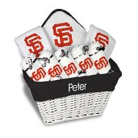 Designs by Chad and Jake MLB Personalized San Francisco Giants 8-Piece Baby Gift Basket