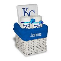Designs by Chad and Jake MLB Personalized Kansas City Royals 4-Piece Baby Gift Basket