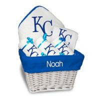 Designs by Chad and Jake MLB Personalized Kansas City Royals 6-Piece Baby Gift Basket