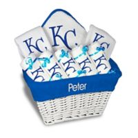 Designs by Chad and Jake MLB Personalized Kansas City Royals 8-Piece Baby Gift Basket