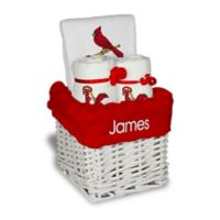Designs by Chad and Jake MLB Personalized St. Louis Cardinals 4-Piece Baby Gift Basket