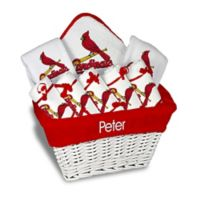 Designs by Chad and Jake MLB Personalized St. Louis Cardinals 8-Piece Baby Gift Basket