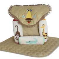 Silly Phillie® Creations Lion 5-Piece Diaper Tote Gift Set in Tan