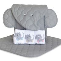 Silly Phillie® Creations Elephant 5-Piece Diaper Tote Gift Set in Grey/White
