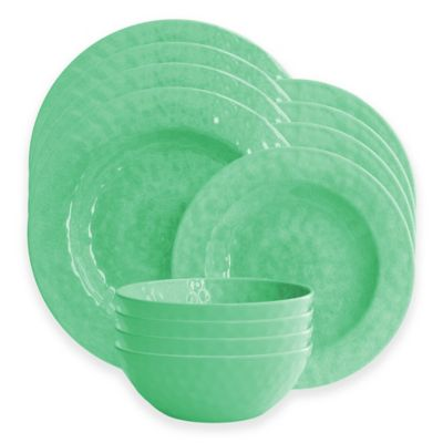 American Atelier 12-Piece Dinnerware Set in Green  sc 1 st  Bed Bath u0026 Beyond : bed bath and beyond dinnerware sets - pezcame.com