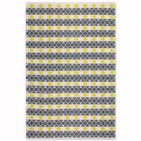 Fab Habitat Metro Westminster 5-Foot x 8-Foot Area Rug in Yellow/Grey
