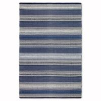 Fab Habitat Zen Collection Ethos 4-Foot x 6-Foot Area Rug in Blue
