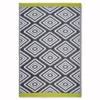 Fab Habitat World Collection Valencia 6-Foot x 9-Foot Indoor/Outdoor Area Rug in Grey