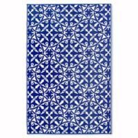 Fab Habitat World Collection San Juan 5-Foot x 8-Foot Indoor/Outdoor Rug in Dark Blue