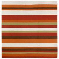 Liorra Manne Ravella Stripe 8-Foot Square Indoor/Outdoor Area Rug in Orange