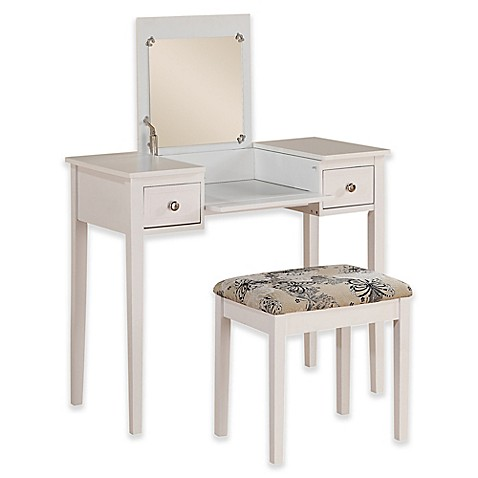 linon home decor vanity set butterfly bench white linon home folding top 2 vanity set with butterfly 13721