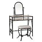 Linon Home Clarisse 2-Piece Vanity Set in Dark Bronze