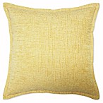 Crosshatch Square Throw Pillow in Sunshine