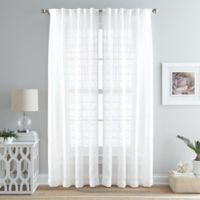 Island Breeze 84-Inch Back Tab Window Curtain Panel in Ivory