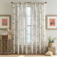 Ferni 63-Inch Pole Top Window Curtain Panel in Natural