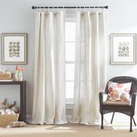Seattle 95-Inch Tie Tab Window Curtain Panel in Natural