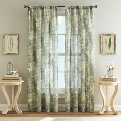 High Quality West Palm 95 Inch Poletop Curtain In Leaf