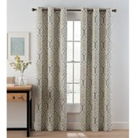Ikat 84-Inch Grommet Top Window Curtain Panel Pair