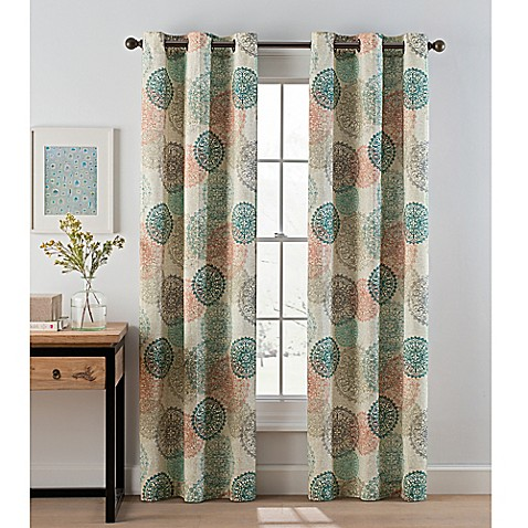 panel print slp x callie blue curtains rod lapis curtain com pocket medallion amazon