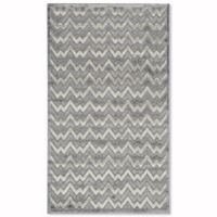 Safavieh Paradise Zag 3-Foot x 5-Foot Area Rug in Light Grey/Dark Grey