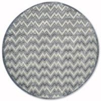 Safavieh Paradise Zag 6-Foot 7-Inch Round Area Rug in Light Grey/Dark Grey
