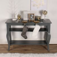 Kate and Laurel Lillian Console Table in Grey