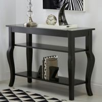 Kate and Laurel Lillian Console Table in Black
