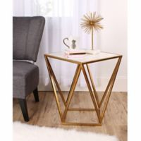 Kate and Laurel Maia End Table in Gold